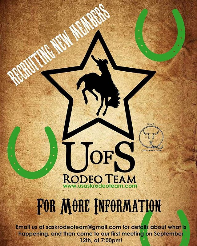 Are you looking for an opportunity to get involved with the rodeo community and the University of Saskatchewan? Join our club!  Email us at this address for details about what we are up to this year!  #usask #uofs #universityofsaskatchewan #rodeo #saskatoon #rodeo #horse #saskatchewan