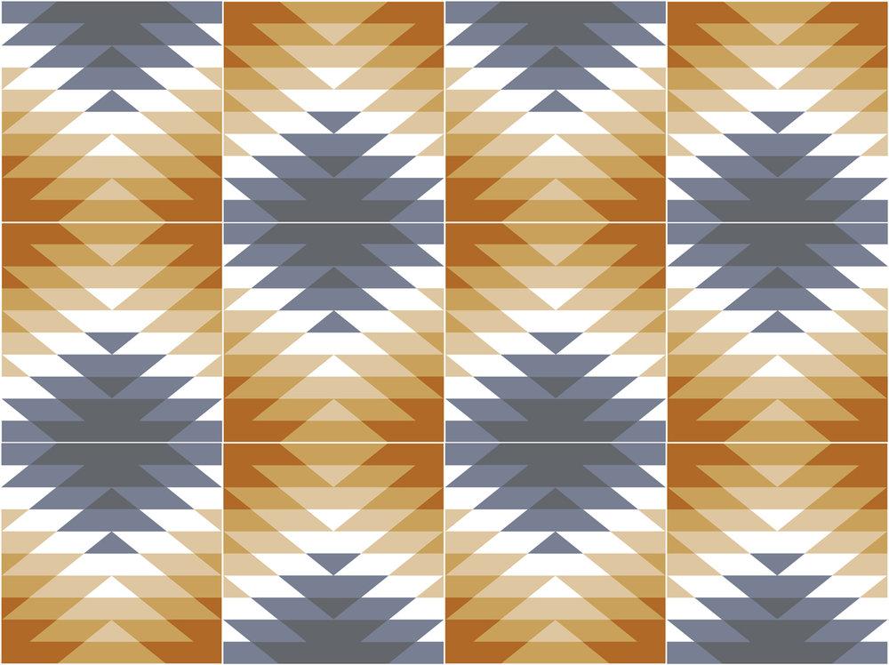 Chiprovtsi tiles pattern