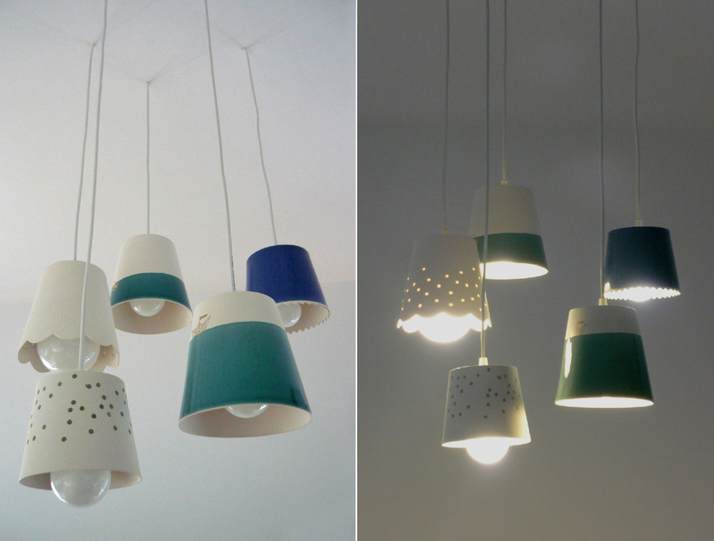 Cozy pendant lamps