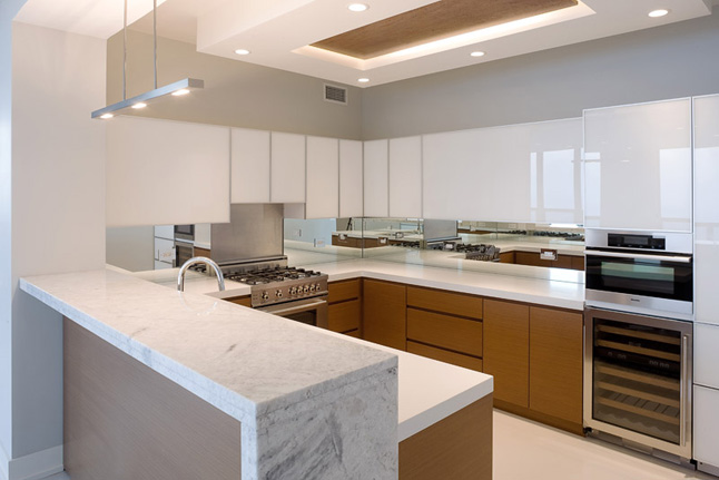 Contemporary lake shore drive condo deb reinhart interior design group inc Condo kitchen design philippines