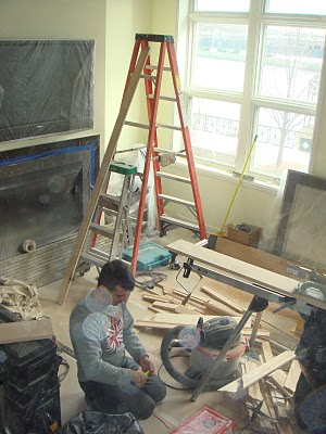 Streeterville Town Home Great Room In Process