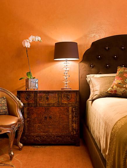 Bedroom with Venetian Plaster