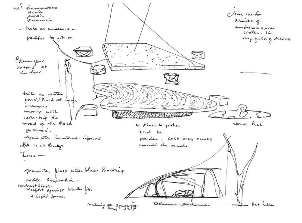 Project sketches, furniture and dwellings