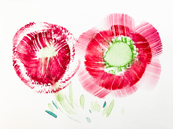 Imagined flowers, Color Study