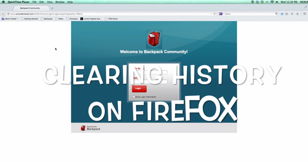 HOW TO CLEAR A HISTORY FILE IN FIREFOX