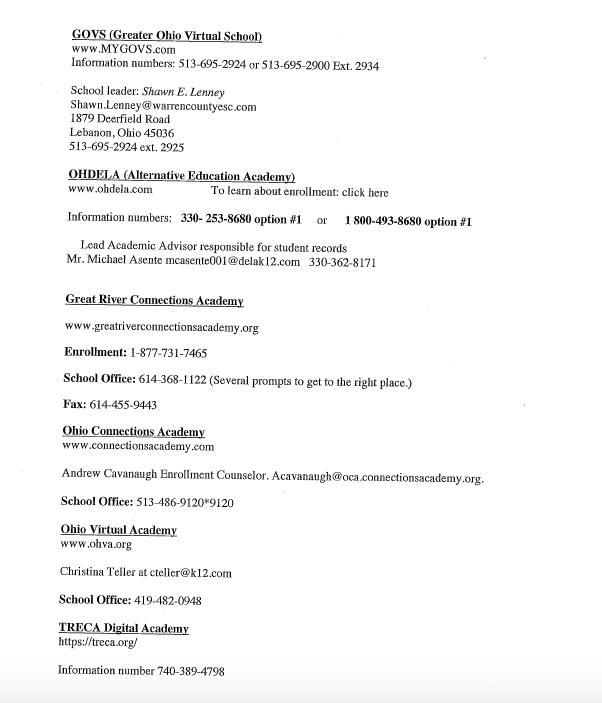 List of E-Schools