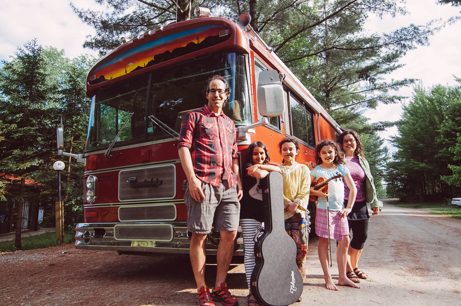 Road it Up A northern Canadian family hitting the road in a bus pulling a Westie!