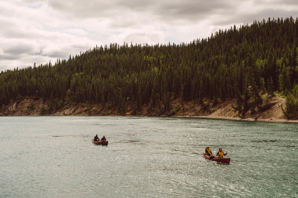 Paddling down the Yukon river on a cold Saturday afternoon, that's living On Yukon Time!
