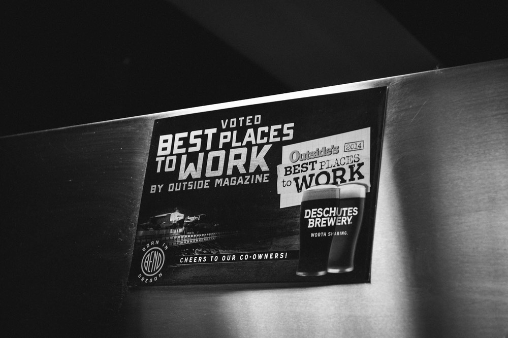 The Brewery was voted best place to work by Outside Magazine in 2014! I can see why! They even have chef on the premise that prepares you whatever you want at any time of the day... Oh! And free beer too!!