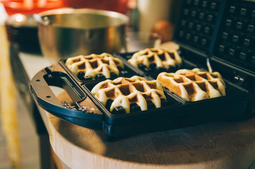 Delicious belgian waffles.