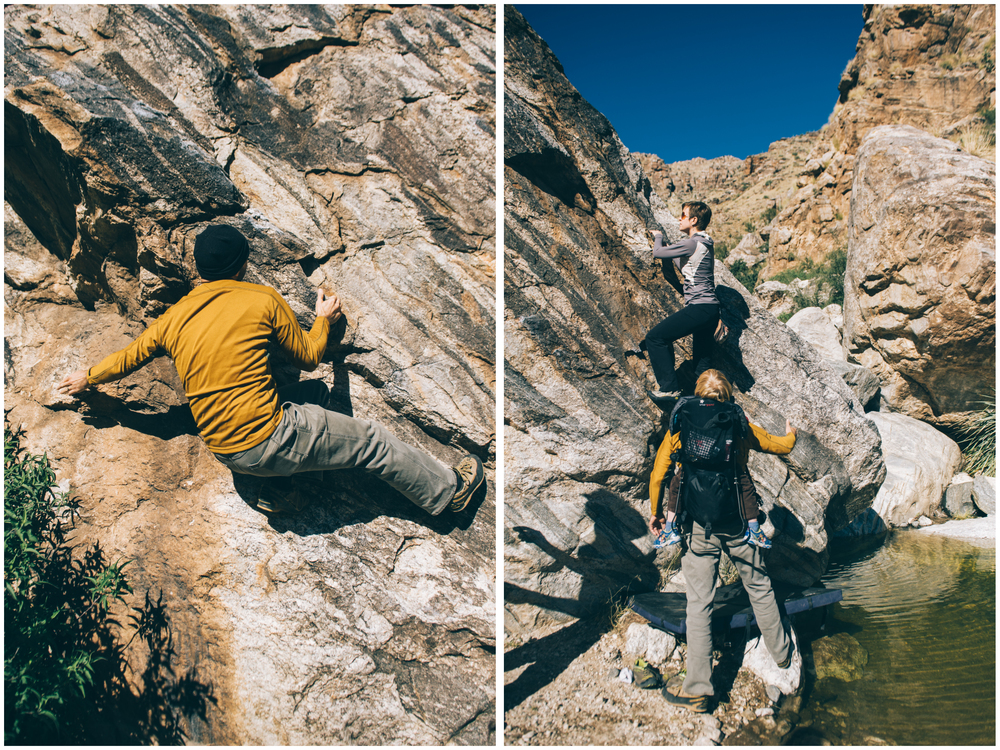 It is so fun to climb with experienced climbers. They are just beautiful to watch!