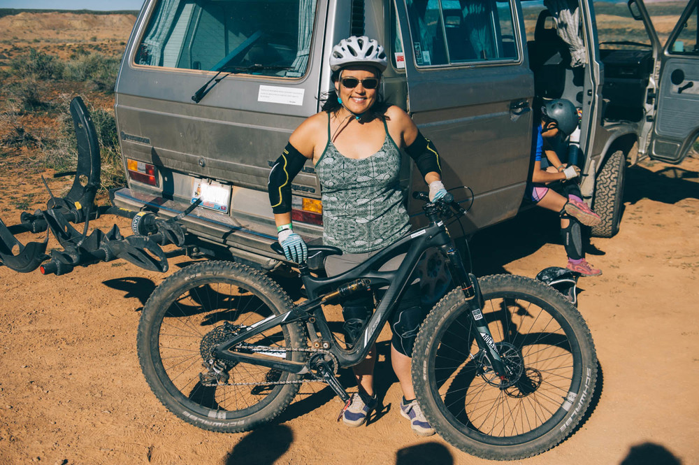 And the winner is: the Ibis  Mojo 3. The smile says it all.