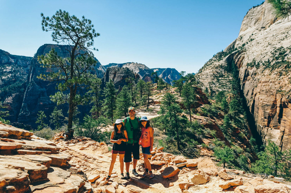 The West Rim Trail was simply stunning with views of Angels Landing and Observation Point.