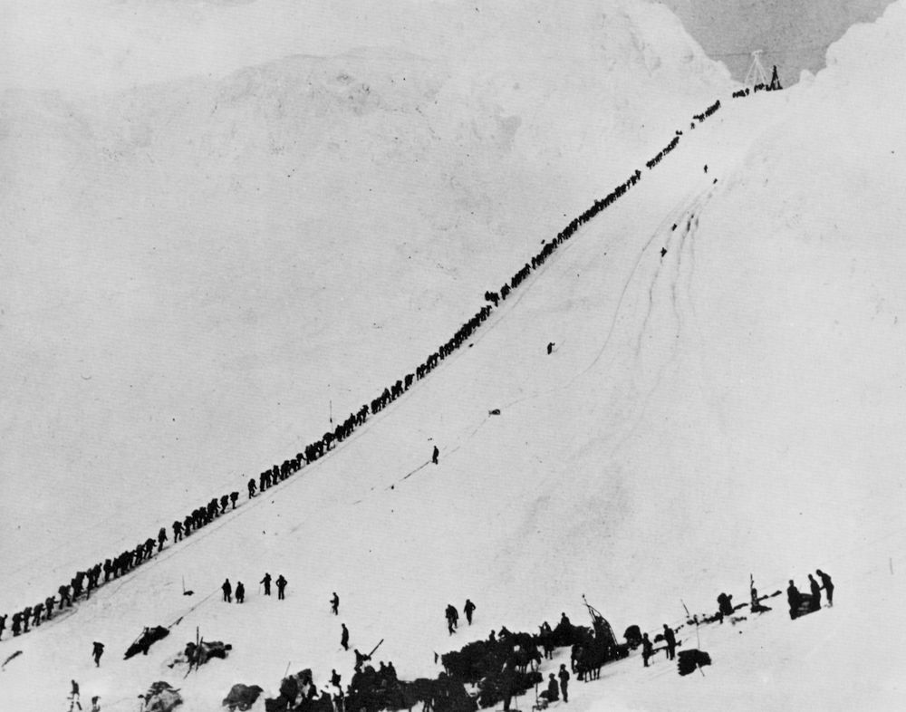 No image better conjures the human drama of the 1898 gold rush than the lines of prospectors struggling over the dreaded Golden Stairs. As we climbed the golden stairs ourselves, all I could think was: people did that for gold, how crazy! Followed by: you know what's even crazier: doing that for a holiday!