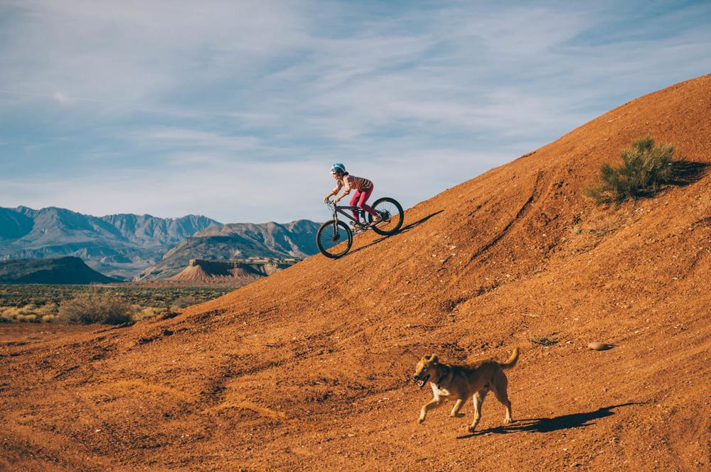 Biking in Virgin, UT.