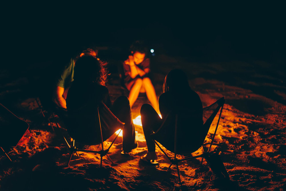 A bonfire on the beach. It doesn't get any better.
