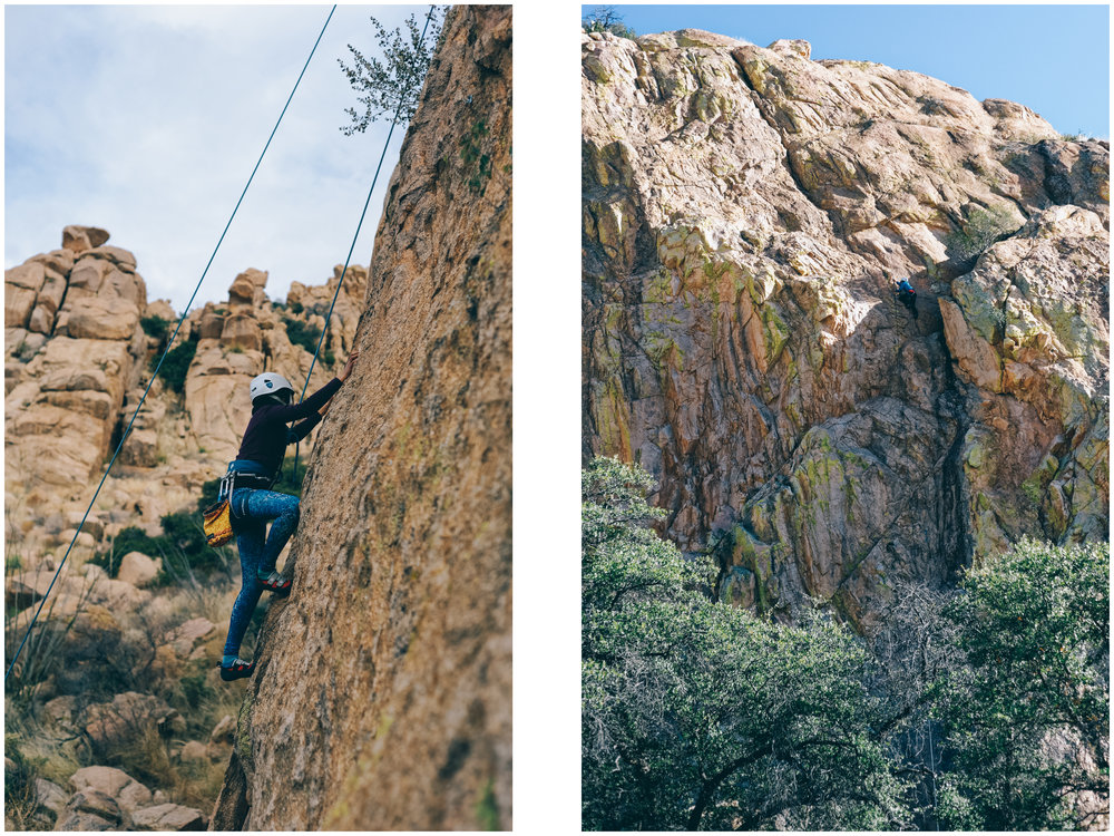 Can you spot Mathilde on the image on the right? These routes are long (and so fun!).