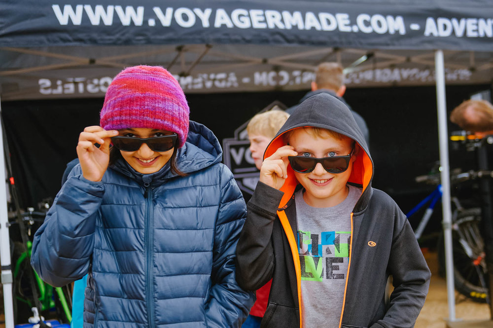 "Kids hiked up on samples of energy bars and hydration drinks, enjoying the free race swag they got ""in town""."