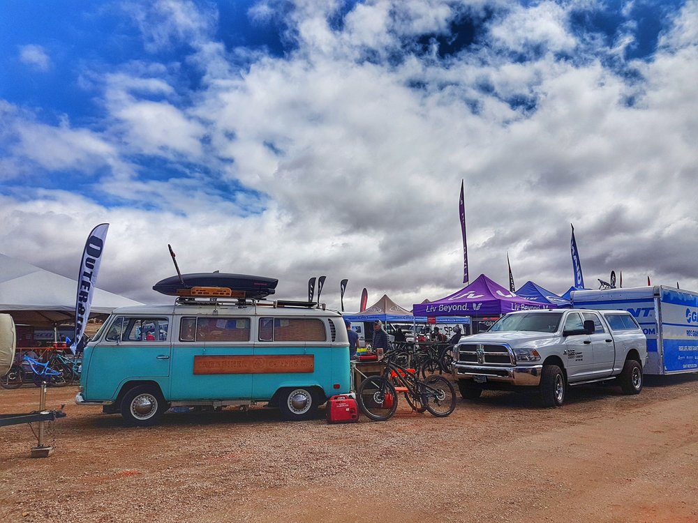 We went to the Outerbike Moab bike festival, tried some great bikes and scored some nice swag!
