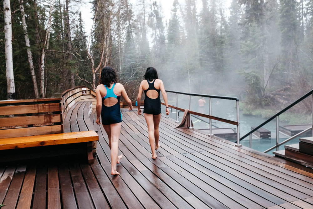 Liard Hot Springs.