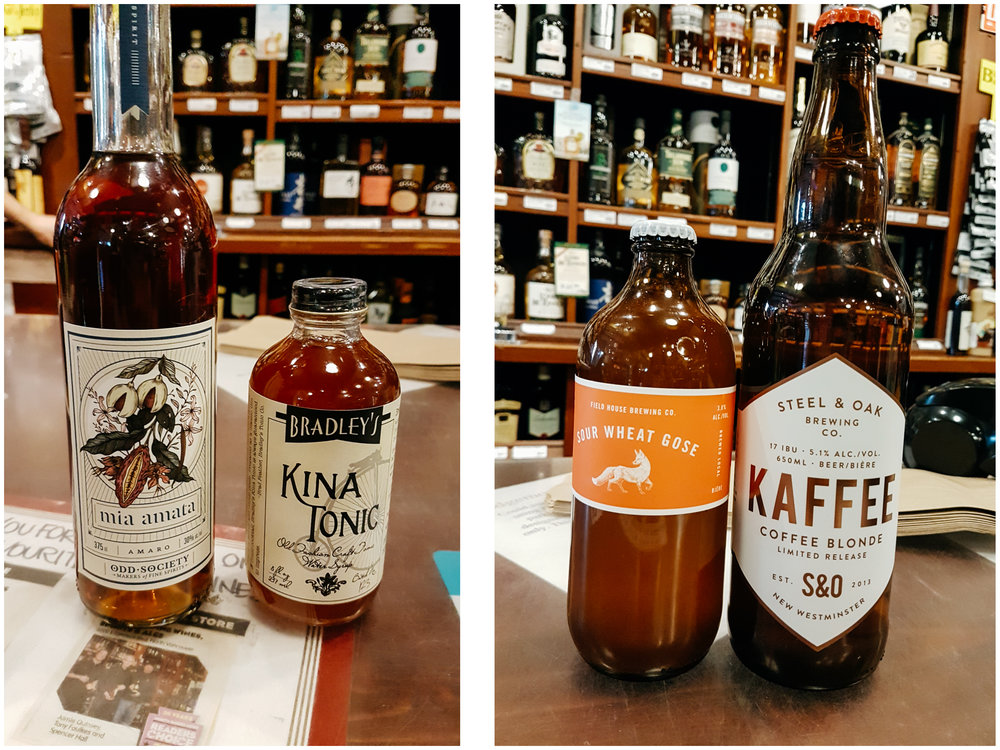 Edgemont Liquor  is one of the best places to find specialty spirits, beer and wines in North Van (not Gastown). I was so excited to find the Mia Amata Amaro from Odd Society Spirits, the Kina Tonic and that Sour Wheat Gose was amazing (still haven't taste the Kaffee one).