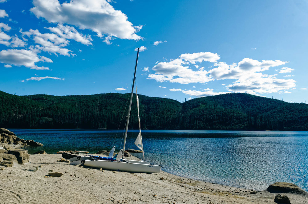 Union Valley Reservoir (Sunset Campground) and our friends Catamaran.