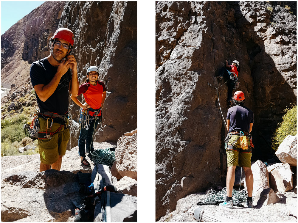 Rock climbing at Owens River Gorge.