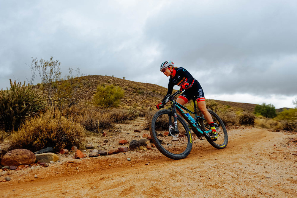 Pro-rider Erin Hock finished in first place for the Cactus Cup.