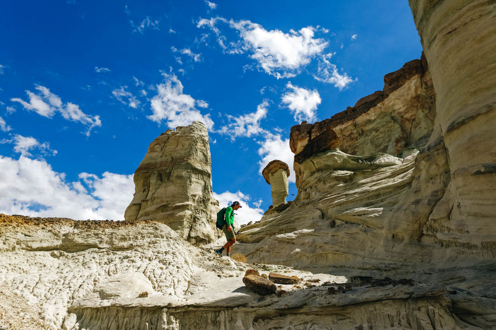 Exploring the first set of hoodoos.