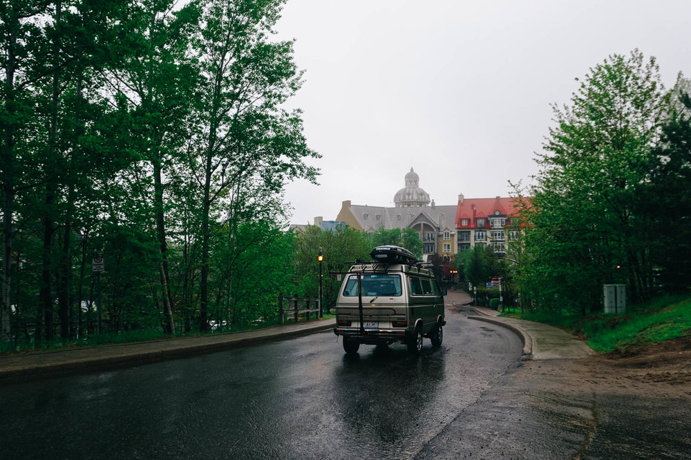 The Quebec Cup in Tremblant was pretty rough. Just like in Baie St-Paul, it rained the night before the race and the course was wet in the morning.