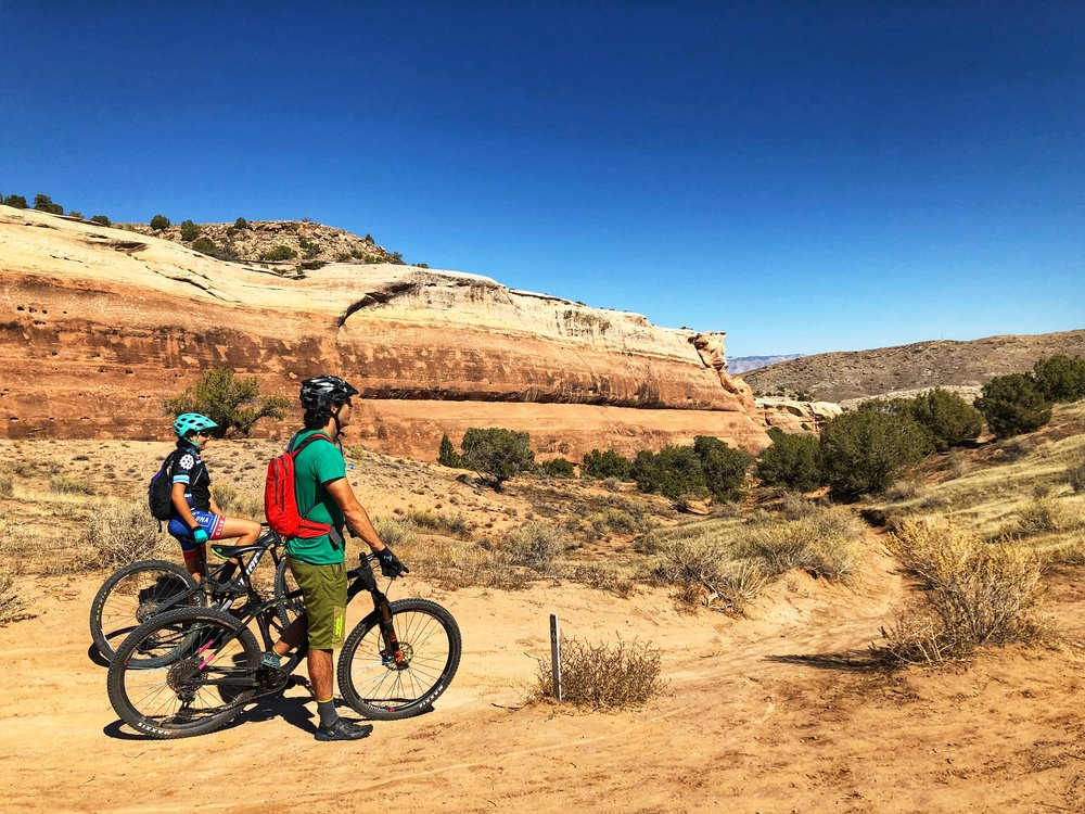 Desperate for some good riding, we headed to Fruita where we had been in the Spring, but had only explored one sector (18 Road). This time, we checked them all and loved them (here's  another post by Pedaladventure on Fruita  if you want more info).