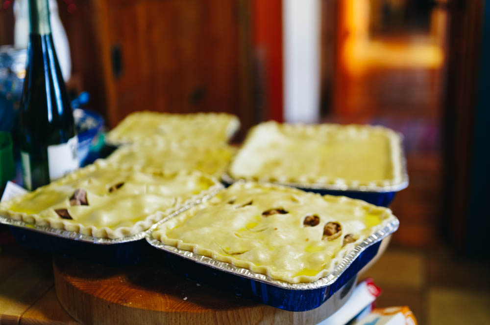 Our Christmas meat pies.