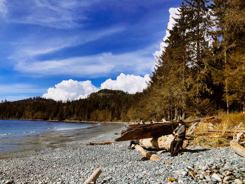 My dad and I took a road trip to Port Renfrew. We stopped at French Beach Provincial Park along the way.