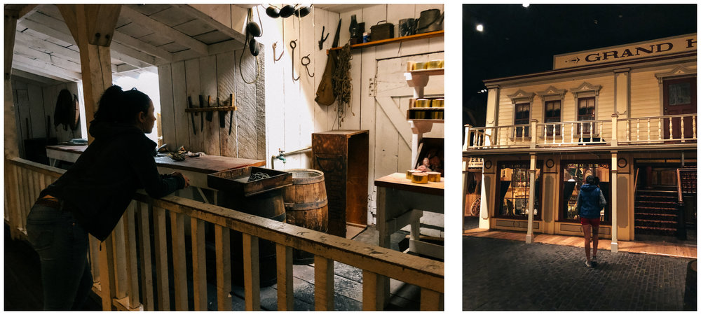 The Royal BC Museum has many life size exhibits. Here: a salmon cannery and an authentic village.