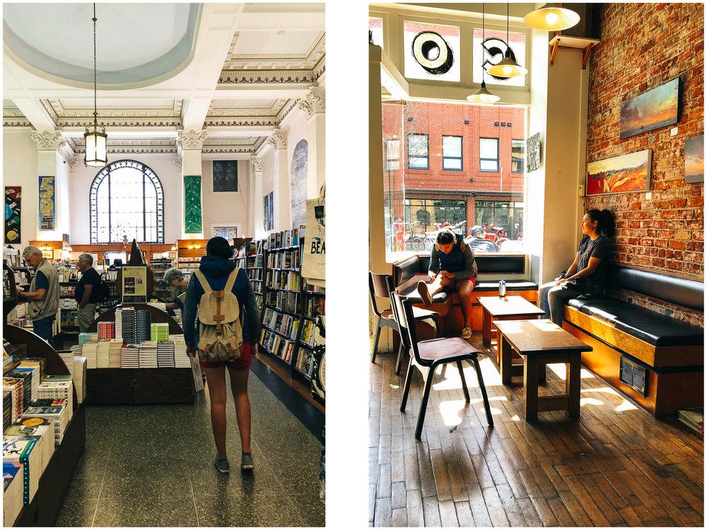 Munro's Books and Habit coffee shop.