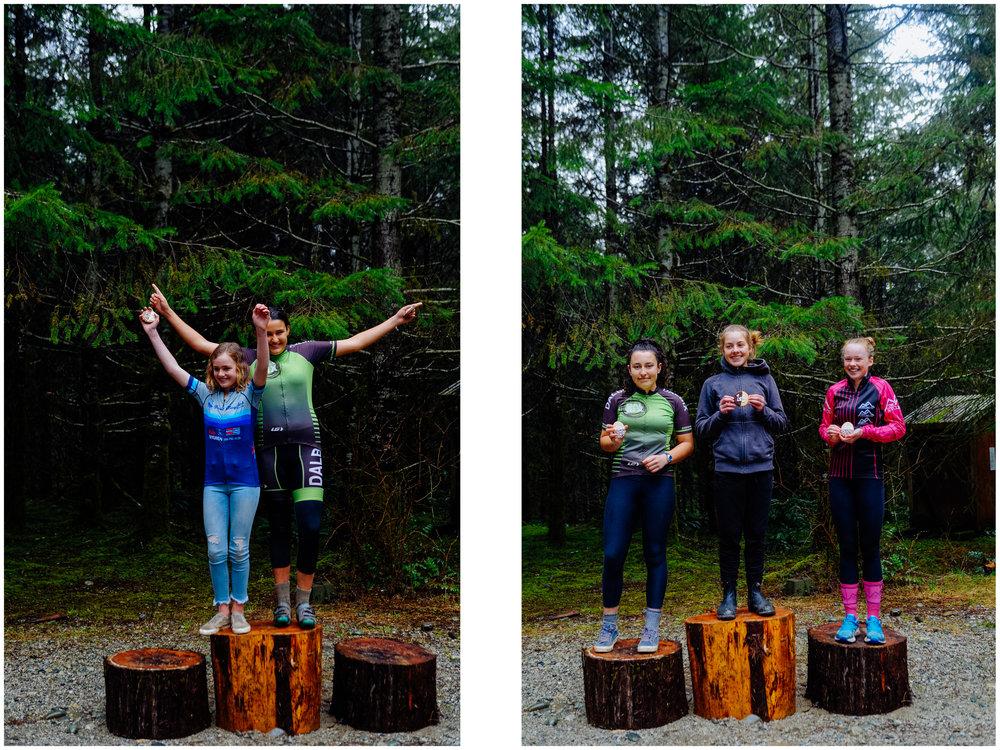 Mathilde got first in the women beginners and Aïsha got second in the intermediate women! A memorable race!