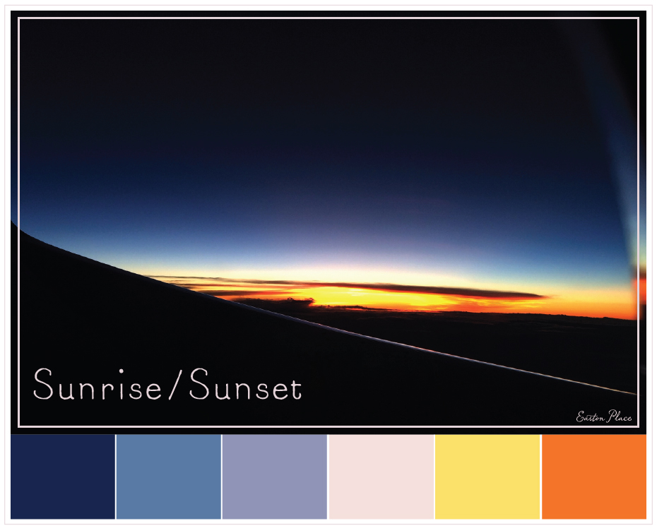 sunrise-sunset-color-palette by Easton Place Design Studio