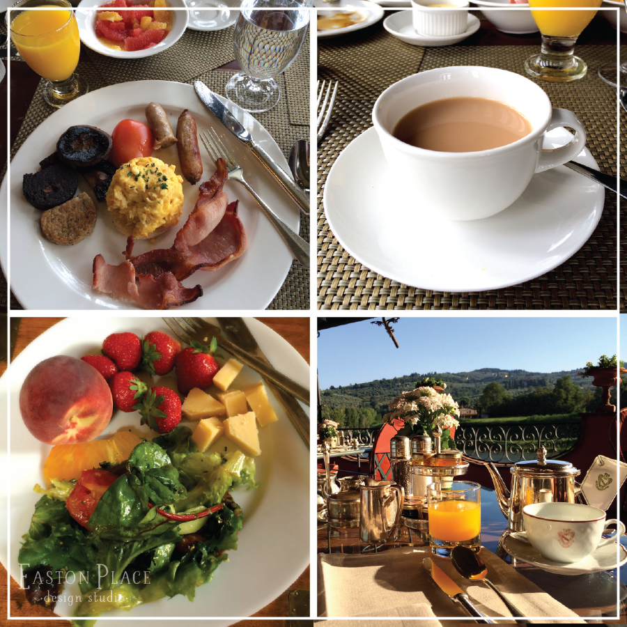 Breakfasts in Ireland, France and Italy
