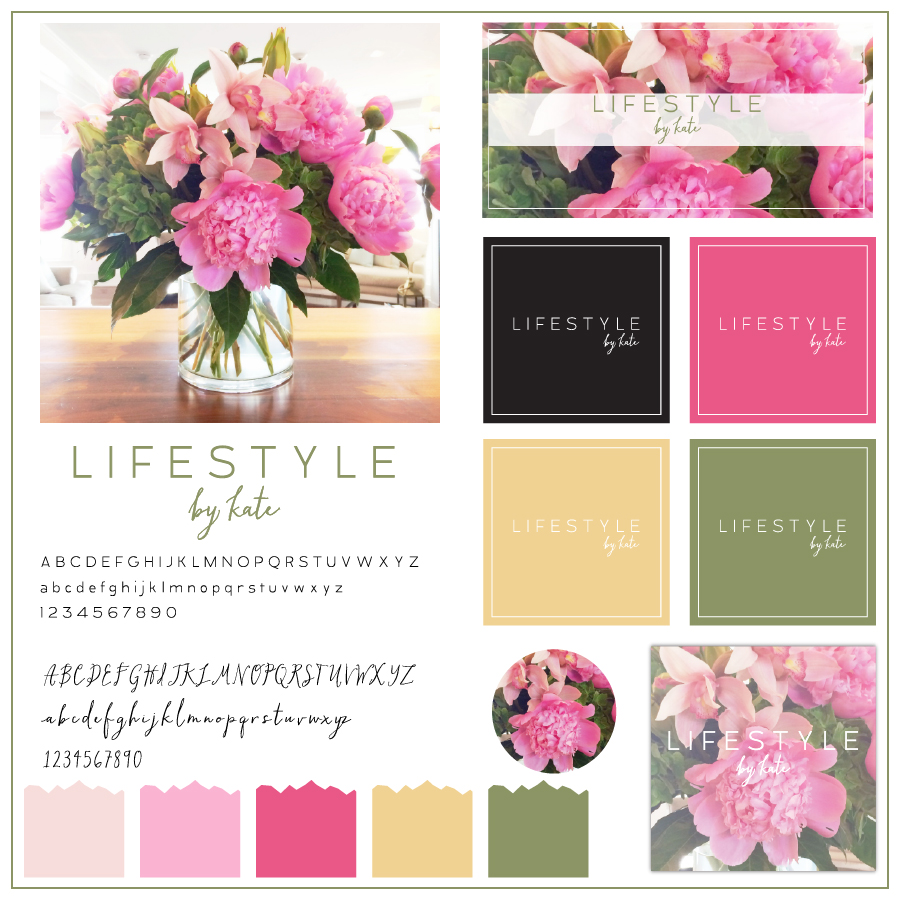 """LIFESTYLE by kate"" customizable logo"