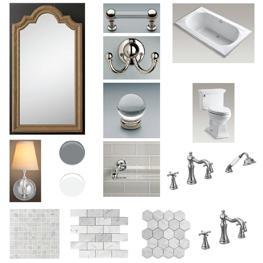 Master Bathroom tiles, fixtures, finishing touches