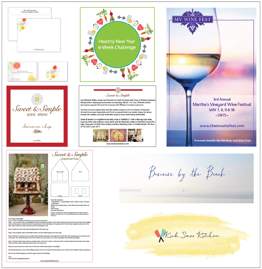 Misc. design work: logos, headers, instruction sheets, labels, posters....