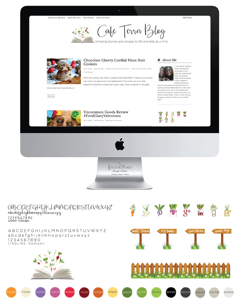 CafeTerraBlog branding by Easton Place