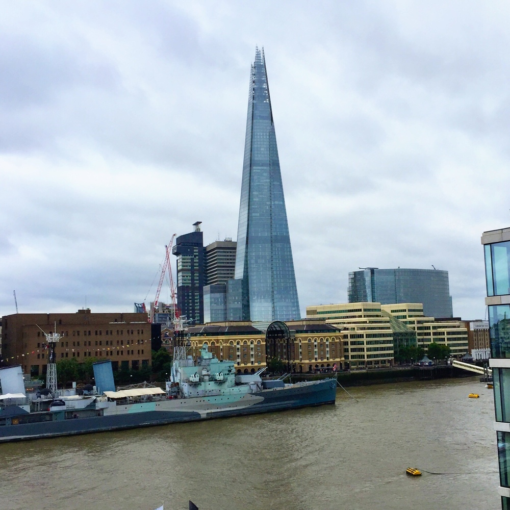 The Shard: view from our hotel balcony