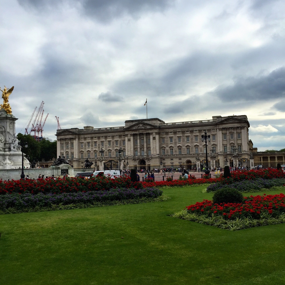 Moody palace sky and gorgeous gardens