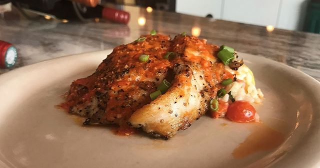 Chef Chuy is whipping up a scrumptious new dinner special this week. Blackened Redfish over Summer Veggie Risotto with Tennessee Tomato and Roasted Red Pepper Vinaigrette. Enjoy a plate with us this weekend.
