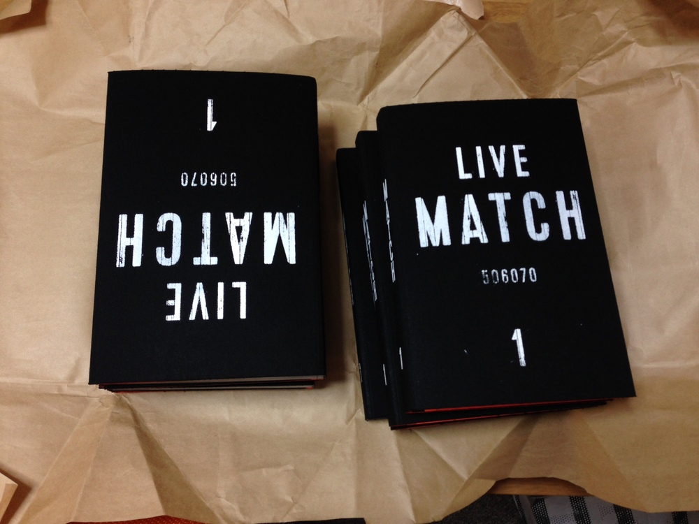 "Copies of volume 2 of the ""LIVE MATCH"" series is ready to ship."