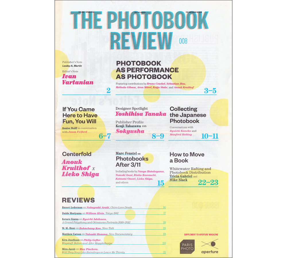 PUBLICATIONS  Aperture THE PHOTOBOOK REVIEW