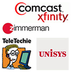 "Unisys, Comcast, ""mom & pop shops"""