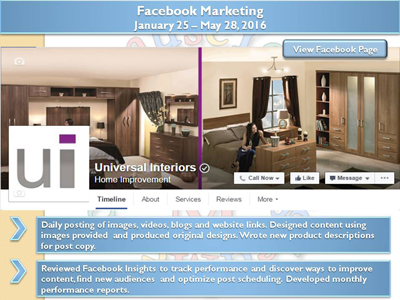 Social Media Marketing – UK based Interior Design Company