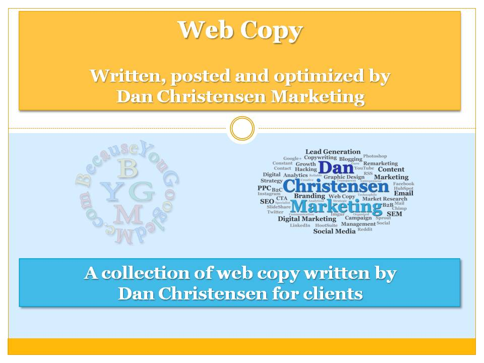 Web copy writing samples